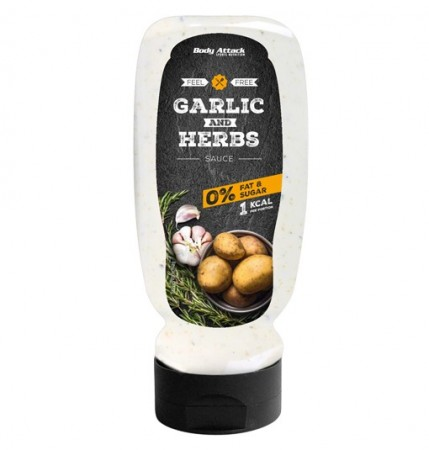 Garlic & Herbs Sauce BODY ATTACK DRESSINGER LOW-CARB & LOW FAT 1 X 320ML