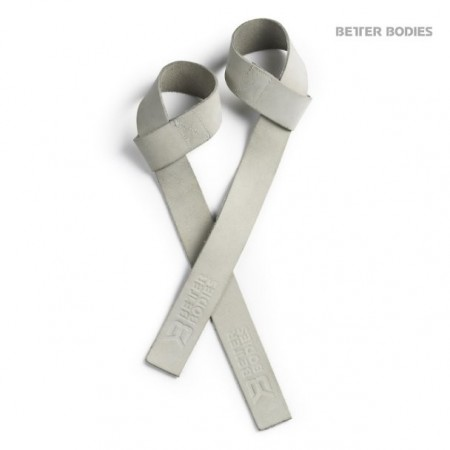 Better Bodies Leather Wraps White One Size