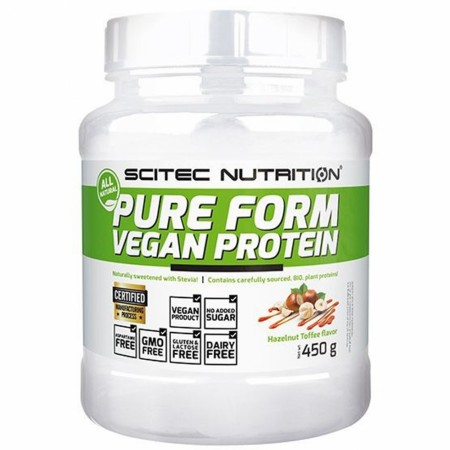 Pure Form Vegan Protein Hazelnut Toffee - 450g