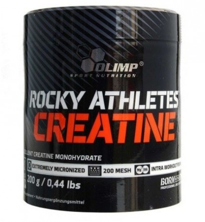 Olimp Rocky Athletes Creatine Powder 200g - Kreatin (UTLØPSDATO 08.01.19)