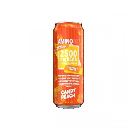 AminoPro Bcaa Candy Peach m/koffein - 330 ml