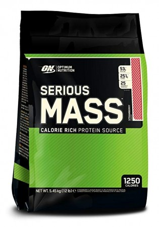 Optimum Nutrition Serious Mass 5,4kg Jordbær