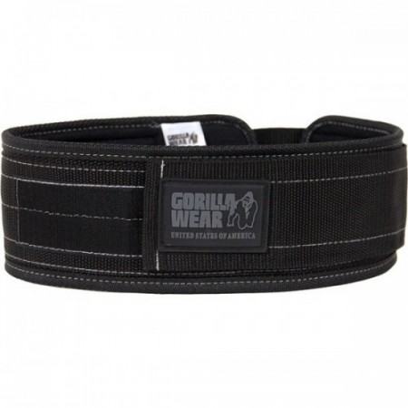 Gorilla Wear 10,2 cm nylon belte - sort