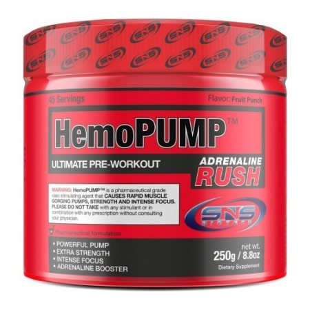 HemoPump Adrenaline Rush 250g Fruit Punch