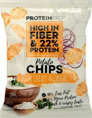 ProteinPro Chips Sour Cream & Onion - 50g