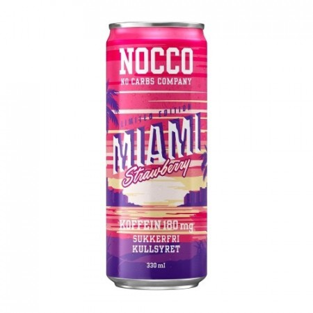 NOCCO BCAA Miami Strawberry Limited Edition - 330ml