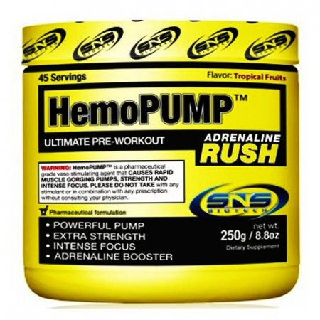 Hemo Pump Adrenaline Rush 250g Tropical Fruits
