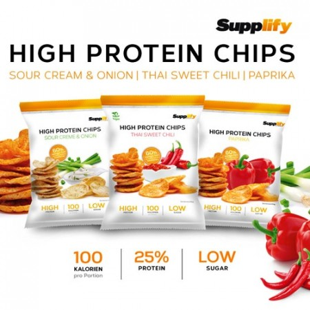 3 X High Protein Chips 50g velg smaker